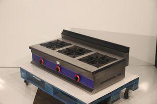 Cocina 3 fuegos sobremesa horizontal