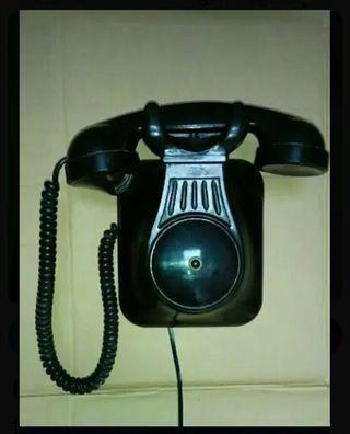 teléfono antiguo supletorio de baquelita años 50