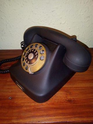 teléfono antiguo año 1950 de baquelita