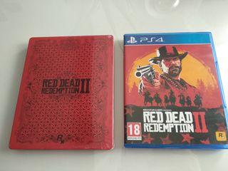 Red Dead Redemption 2 para PS4 + caja metálica