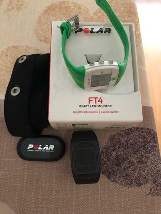 Pulsometro Polar FT4 Verde + soporte manillar