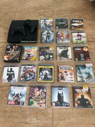 PS3 1Tb + 22 juegos