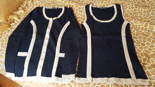 Conjunto de chaqueta y sueter