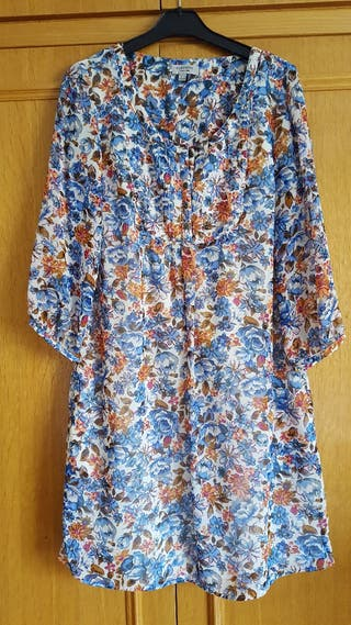 vestido manga al codo de Cortefiel