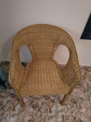 sillas mimbre x2