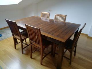 mesa comedor madera sin sillas