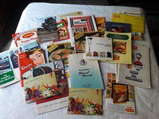 Recetarios y folletos de cocina
