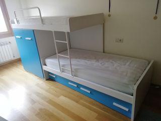 camas literas con armario