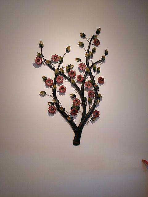 adorno flores forja