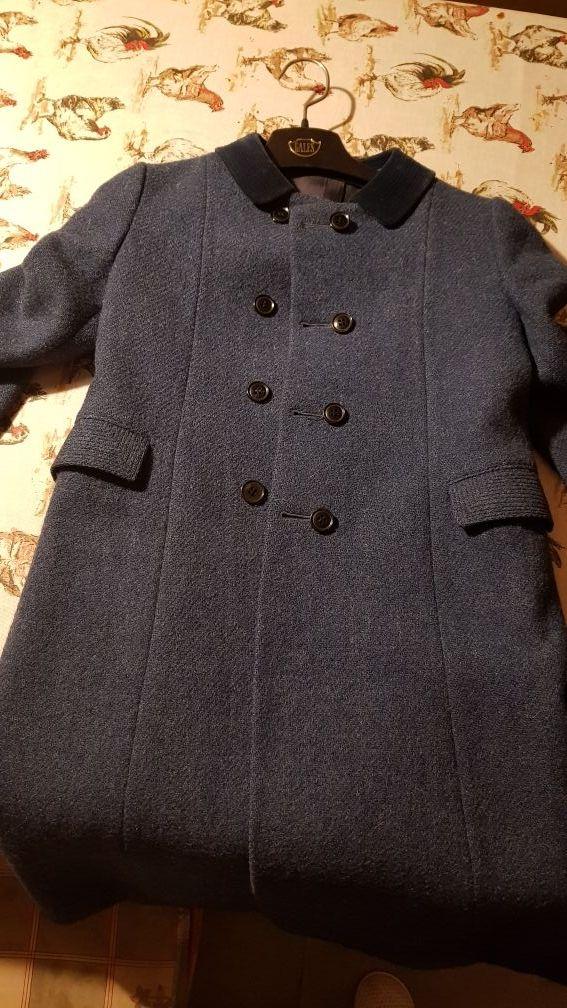 atesorar como una mercancía rara 100% originales gama muy codiciada de Abrigo niña talla 7 -8 de lana azul de segunda mano por 30 ...