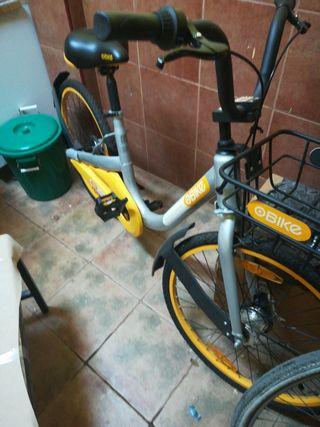 bicicleta OBIKE con app de bloqueo de seguridad,
