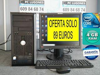 ORDENADOR COMPLETO CORE 2 DUO 4 GB RAM WINDOWS 10