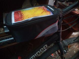 """Bolsa bici con """"ventana"""" táctil para smartphones"""