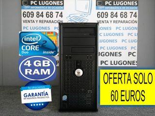 ORDENADOR INTEL CORE 2 DUO 4 GB RAM WINDOWS 10