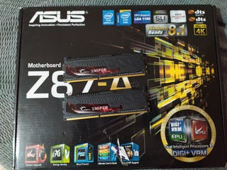 Placa base asus Z87A+i5 4440+8gb ram