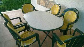 Chollo! Mesa jardín + 6 sillas !