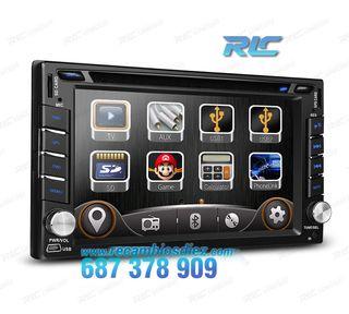 """RADIO NAVEGADOR 2DIN GPS 6.2"""" HD TÁCTIL BLUETOOTH"""