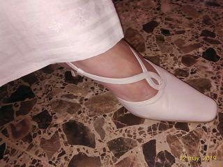 Zapatos Blanco Nacar. Sandalias Boda. 38-39