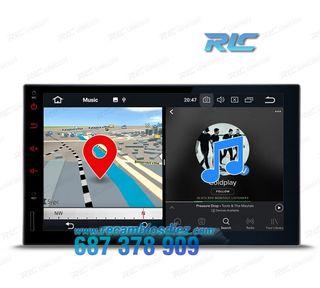 "Radio GPS 2Din Universal Android 8.0 LCD táctil 7"""