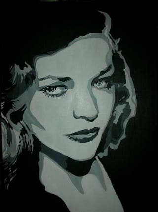 acrílico Lauren Bacall