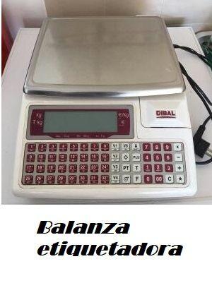 Balanza etiquetadora dibal, revisada y calibrada