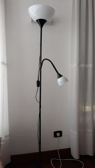 lampara NOT de pie/de lectura negra