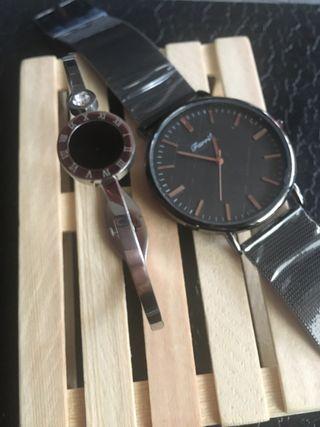 Reloj & pulsera acero