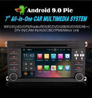 """NAVEGADOR 7 """"Android 9.0 Pie para Porsche Cayenne"""