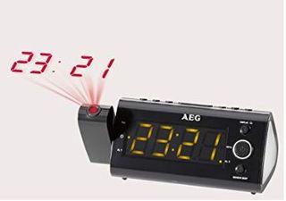Radio reloj despertador con proyección