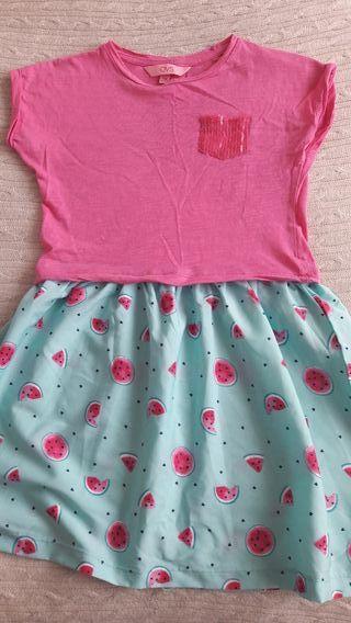 Bonito vestido verano niña talla 7-8