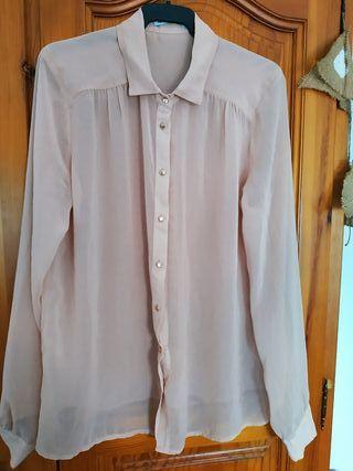 blusa rosa palo