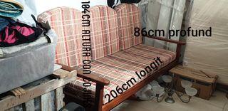 sofa stile rustico 3plazas