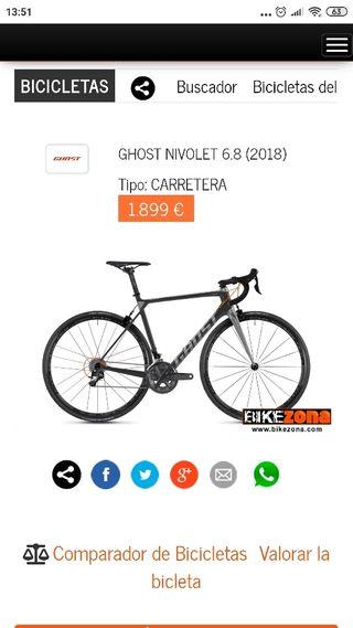 Bicicleta carretera Ghost Nivolet