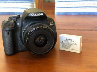 Canon 650D + objetivo canon 35mm f2