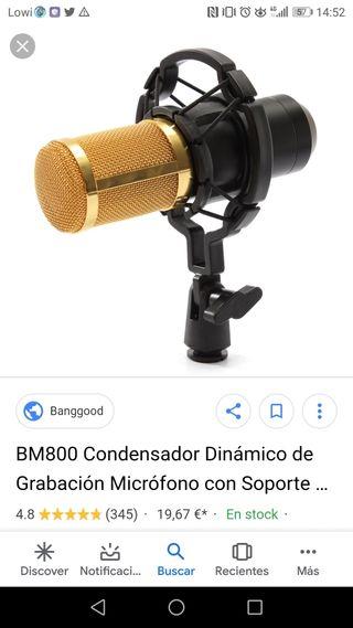 micrófono BM 800 NUEVO A ESTRENAR