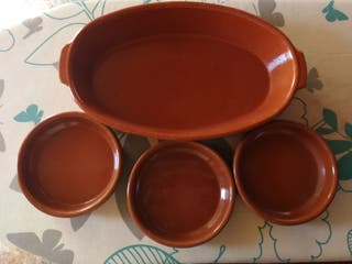 juego bandejas cerámica