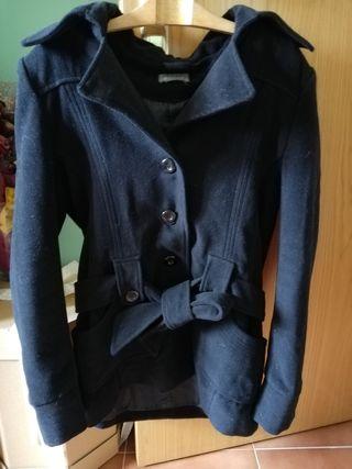 Abrigo chaqueta vestir negro
