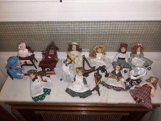 Juego de muñecas de porcelana