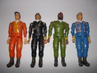 el equipo A Murdock, Fenix, Hannibal y M.A. 1980