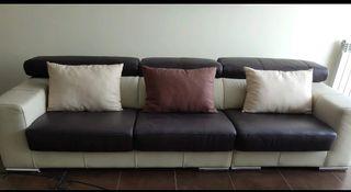 Sofá de piel auténtica