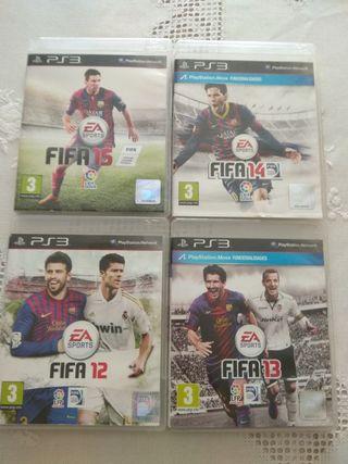 Juegos PS3 FIFA 12,13,14,15