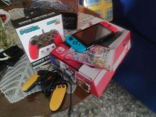 super pack consola switch + 2 mandos + smash bros