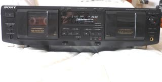 Sony. Doble cassette. Dolby ByC. Para equipo HiFi.
