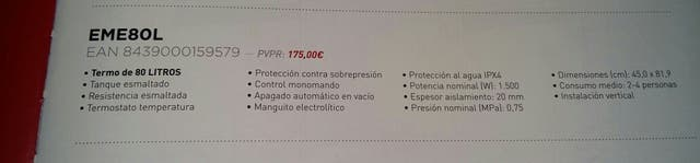 TERMO EAS ELECTRIC. 2A OPORTUNITAT
