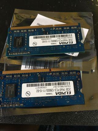 Memoria Ram para mac mini o portatil ddr3 2x2gb