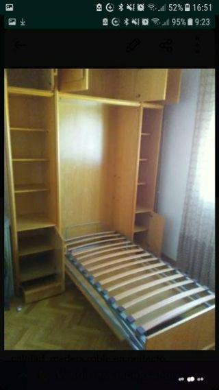 Mueble Cama con Estanterias y Altillos