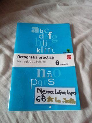 libro de ortografia 6 primaria precio negociable