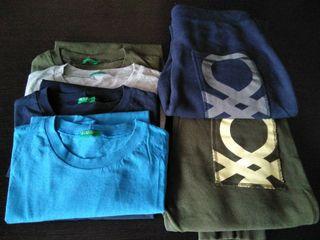 2 pantalones, 4 camisetas Benetton