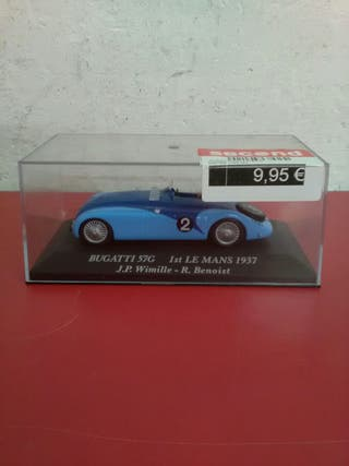 Maqueta coche Bugatti 57G mida 1\43