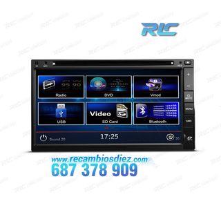 "RADIO DVD 2DIN 7"" HD TÁCTIL BLUETOOTH SD"